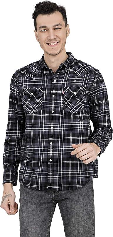 Levis camisa de hombre 65816-0287 S Nero Grigio: Amazon.es: Ropa y accesorios