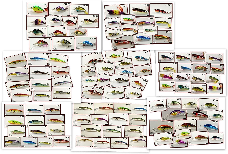 アクナバルクパックwith釣りルアー、112クランクベイトベースサプライヤー、スプーン、スピナー疑似餌