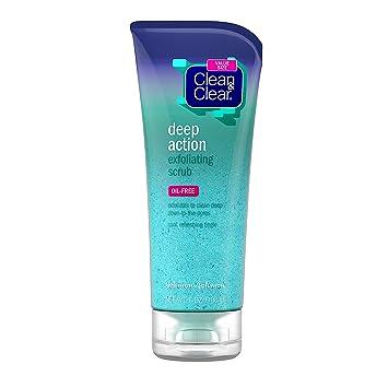 Clean Clear Exfoliante Facial Exfoliante De Acción Profunda Sin Aceite Lavado Facial De Enfriamiento Para Limpieza Profunda De Los Poros 7 Oz Beauty