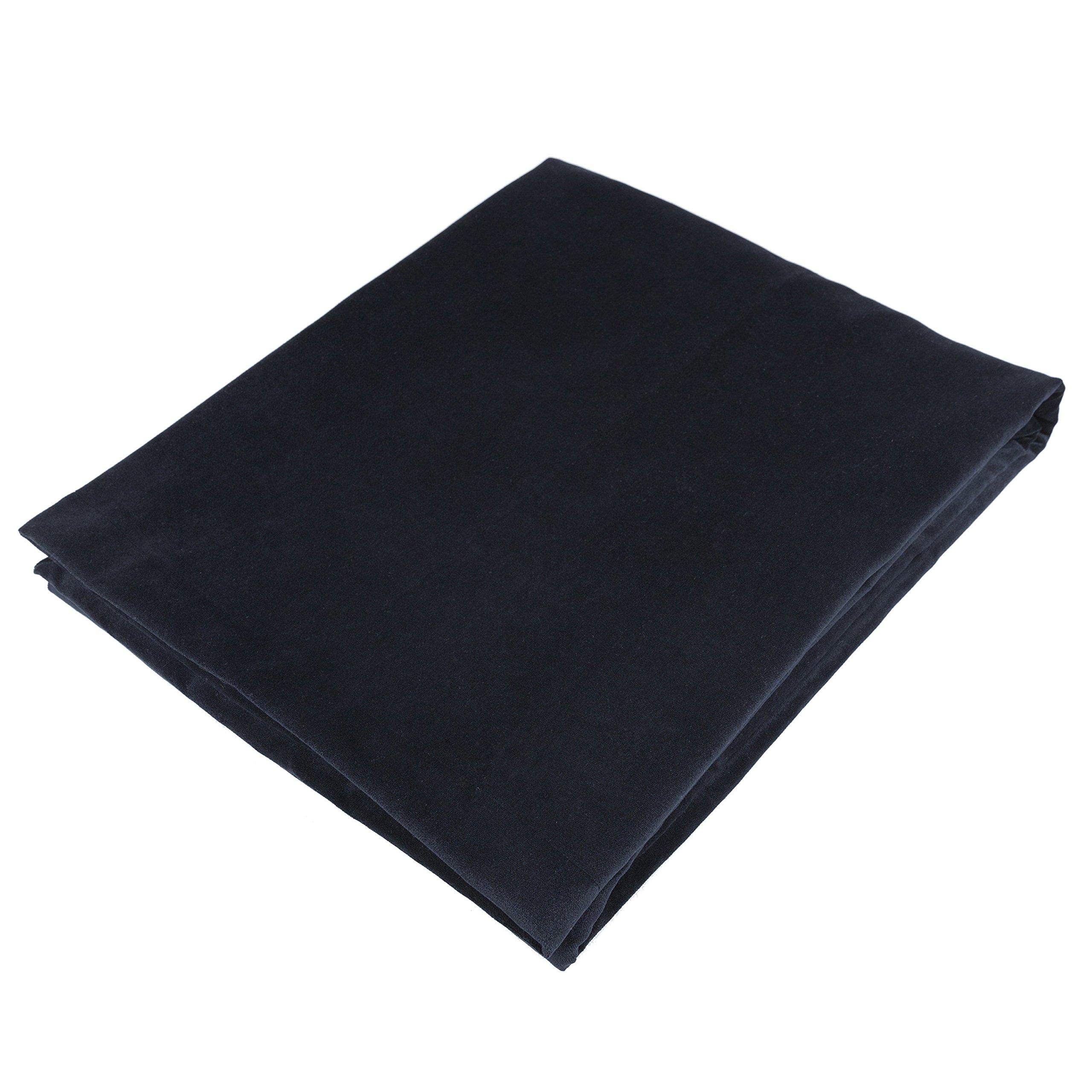 McAlister Matt Velvet | Extra Large Decorative Throw Blanket | 78x100'' Jet Black | Lush, Plush & Soft Classic Modern Accent Décor