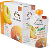 Amazon Price History for:Amazon Brand - Mama Bear Organic Baby Food Pouch, Stage 2, Pumpkin Apple Peach Buckwheat, 4 Ounce Pouch (Pack of 12)