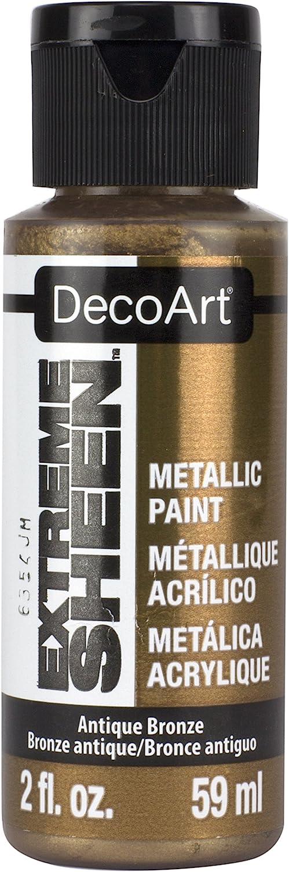 DecoArt 2 Ounce, Antique Bronze Extreme Sheen Paint, 2 oz, Metallic, 2 Fl Oz