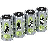 ANSMANN LSD Baby C Akkubatterien 1 2V/Typ 2500mAh/NiMH Hochleistungsakkus mit geringer Selbstentladung & Hoher Langlebigkeit - Ideal für Fernbedienung Spielzeug Werkzeug UVM. 4 Stück