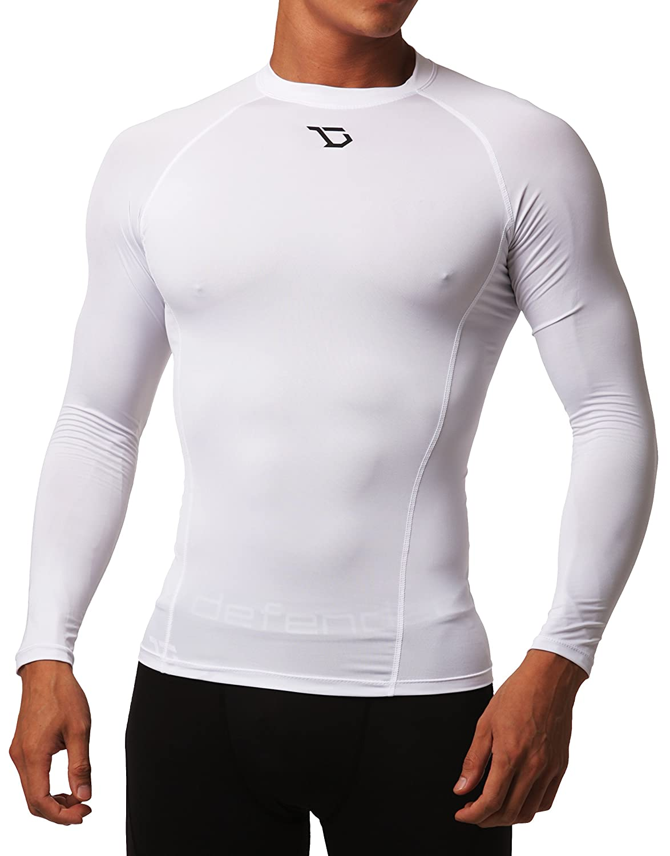 Defender Men's Quick Dry Compression Baselayer Underlayer Top Long Sleeve T Shirt