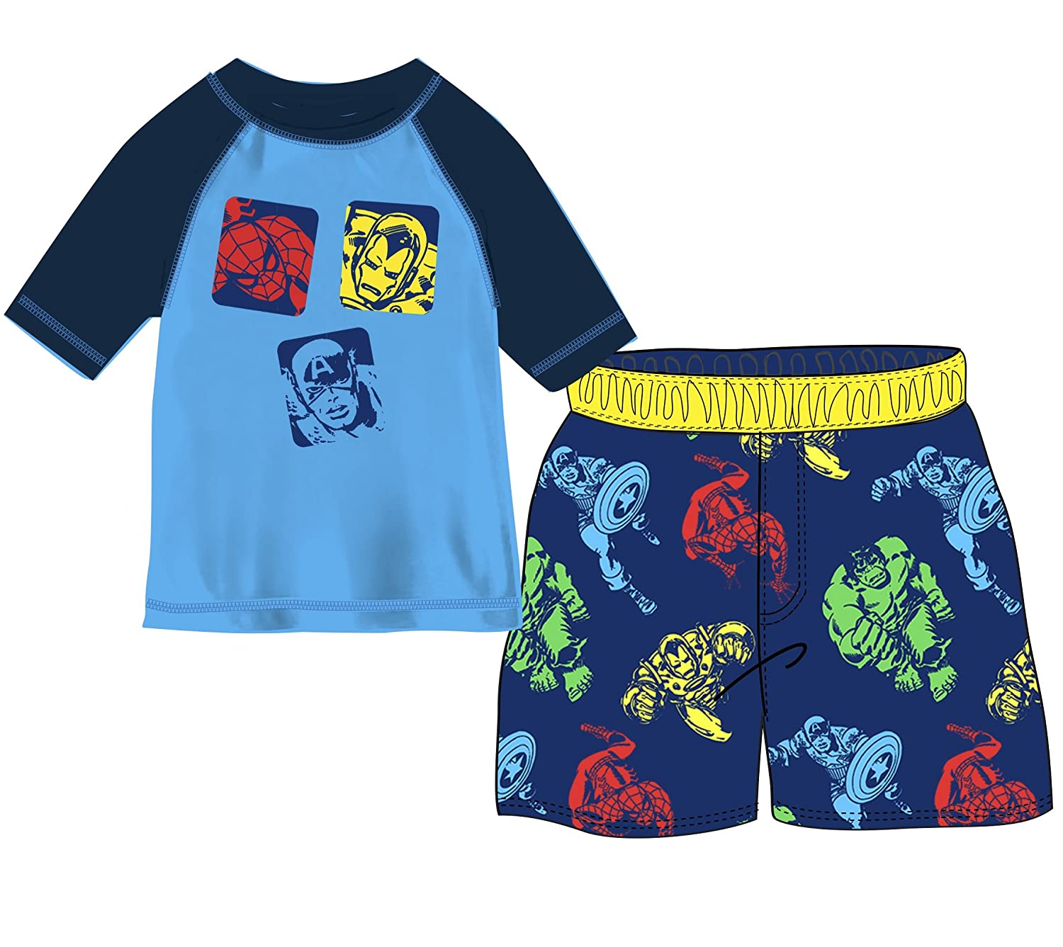 Marvel Boys' Toddler Avengers 2-Piece Swim Set