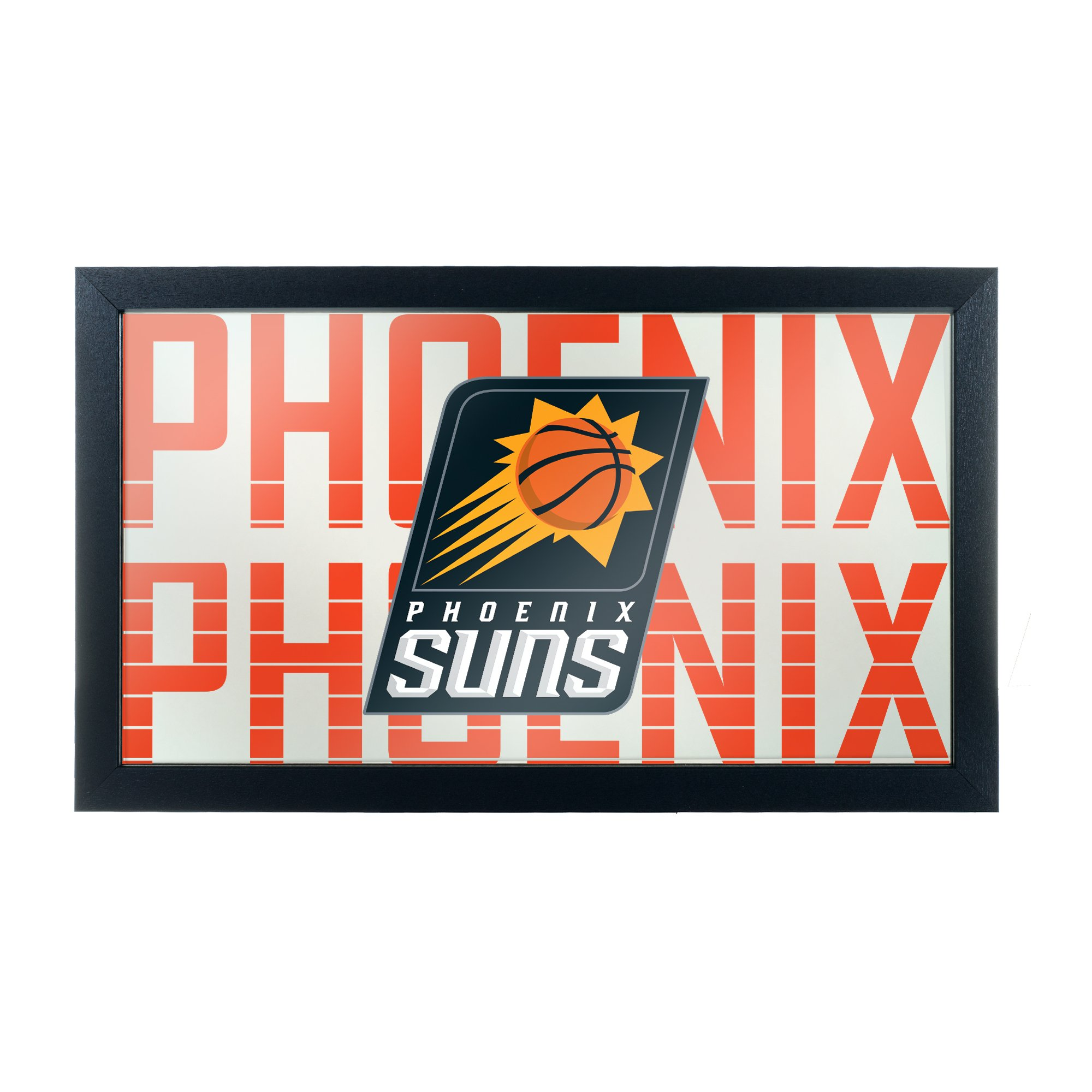 Trademark Gameroom NBA1500-PS3 NBA Framed Logo Mirror - City - Pheonix Suns
