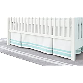 Just Born Classic Crib Skirt, Aqua