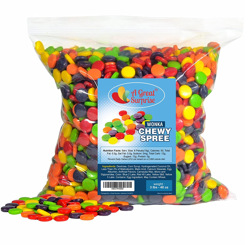 Spree Candy - Spree Chewy Candy by Wonka, 3 LB Bulk Candy