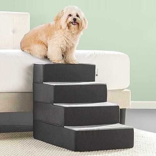Zinus 2 Step Easy Pet Stairs Pet Ramp Pet Ladder Renewed