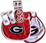Georgia Bulldogs Baby Booties Gift Set Red UGA