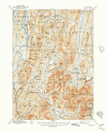 Topographic Map Vermont.Amazon Com Yellowmaps Pawlet Vt Topo Map 1 62500 Scale 15 X 15