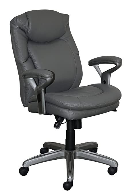 Amazoncom Serta Chr10052a Wellness By Design Mid Back Office Chair