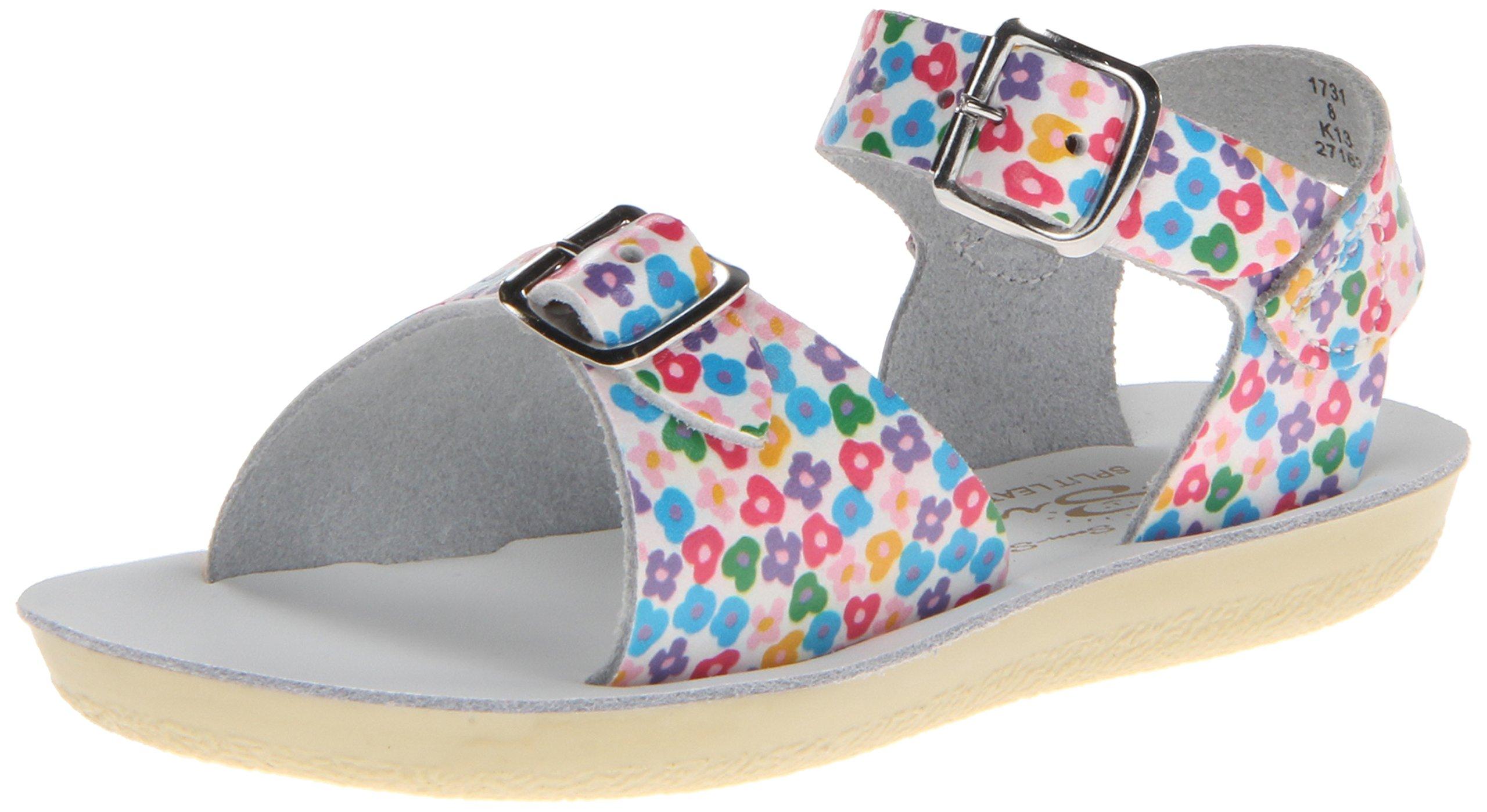 Salt Water Sandals by HOY Shoe Surfer Sandal (Infant/Toddler/Little Kid),Floral,8 M US Toddler