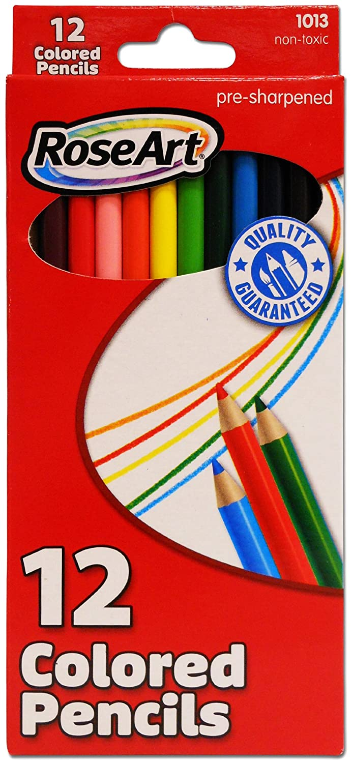 24-Count Assorted Colors Packaging May Vary RoseArt Colored Pencils 1069AA-48
