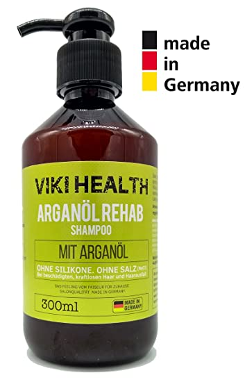 Außergewöhnlich VIKI HEALTH Arganöl Shampoo - ohne Silikone, Salze und Parabene &JN_07