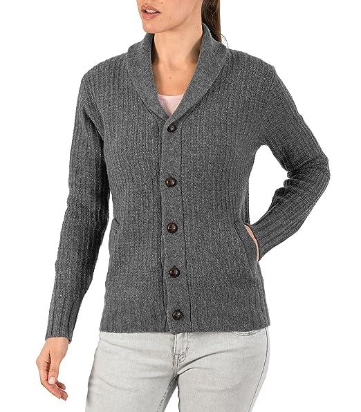 Wool Overs Chaqueta Mujer Lana Cuello Esmoquin gris ceniza ...