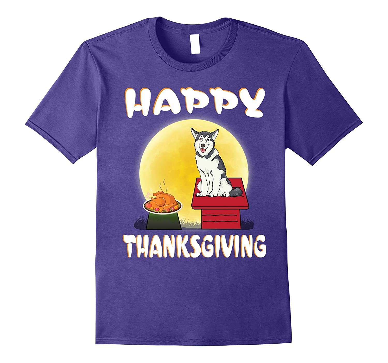 Alaskan Husky Dog Costume Happy Thanksgiving Day T-Shirt Gi-T-Shirt