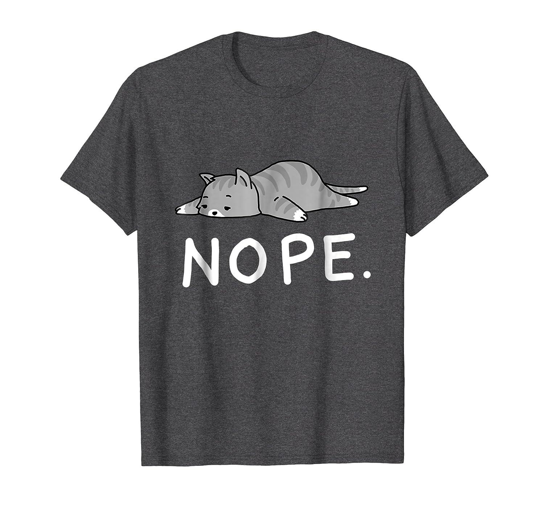 Lazy Day Procrastinate Grumpy Tired Cute Funny Cat Shirt-Awarplus