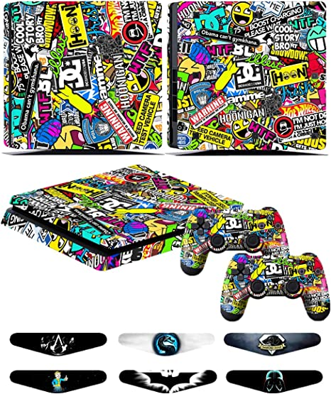 Skins Stickers for PS4 Slim Controller - Decals for Playstation 4 ...