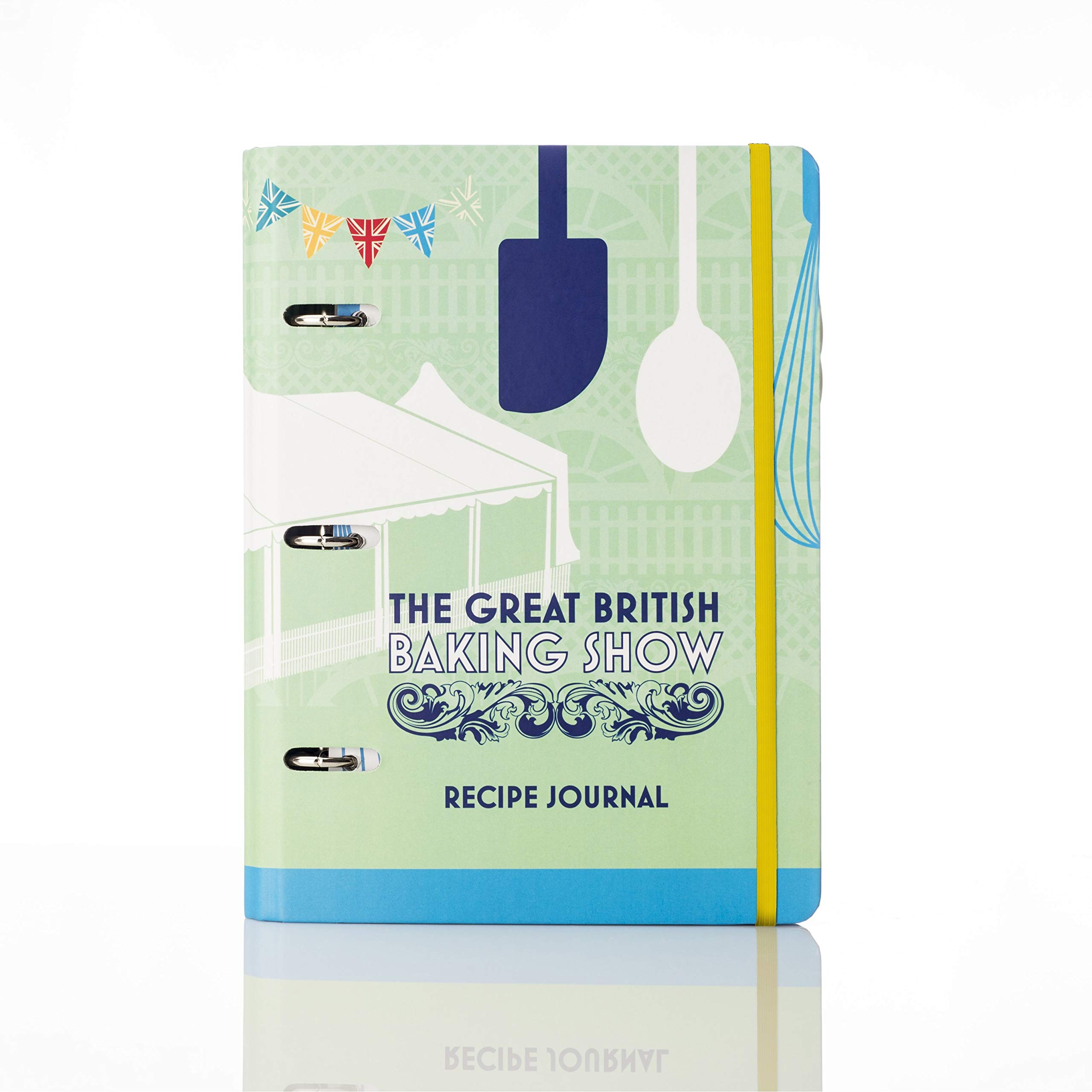 Conquest Journals The Great British Baking Show (Great British Bake Off) Recipe Journal binder, 7 1/4''x9'', 3 Ring Mini Euro Binder, 6 Baking Show Recipes, Pocket Dividers, Blank Recipe Pages by CON*QUEST