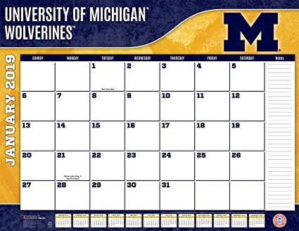 University Of Michigan Calendar 2019 Amazon.: Turner 1 Sport Michigan Wolverines 2019 22X17 Desk