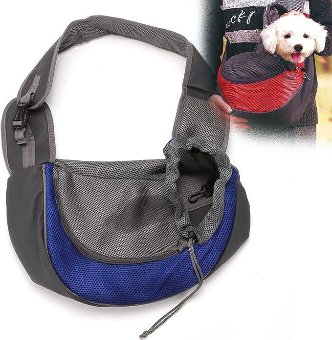 PETnSport Pet Backpack Carrier Adjustable Padded Shoulder Straps Mesh Breathable Hands Free Travel Bag for Small Dogs Cats