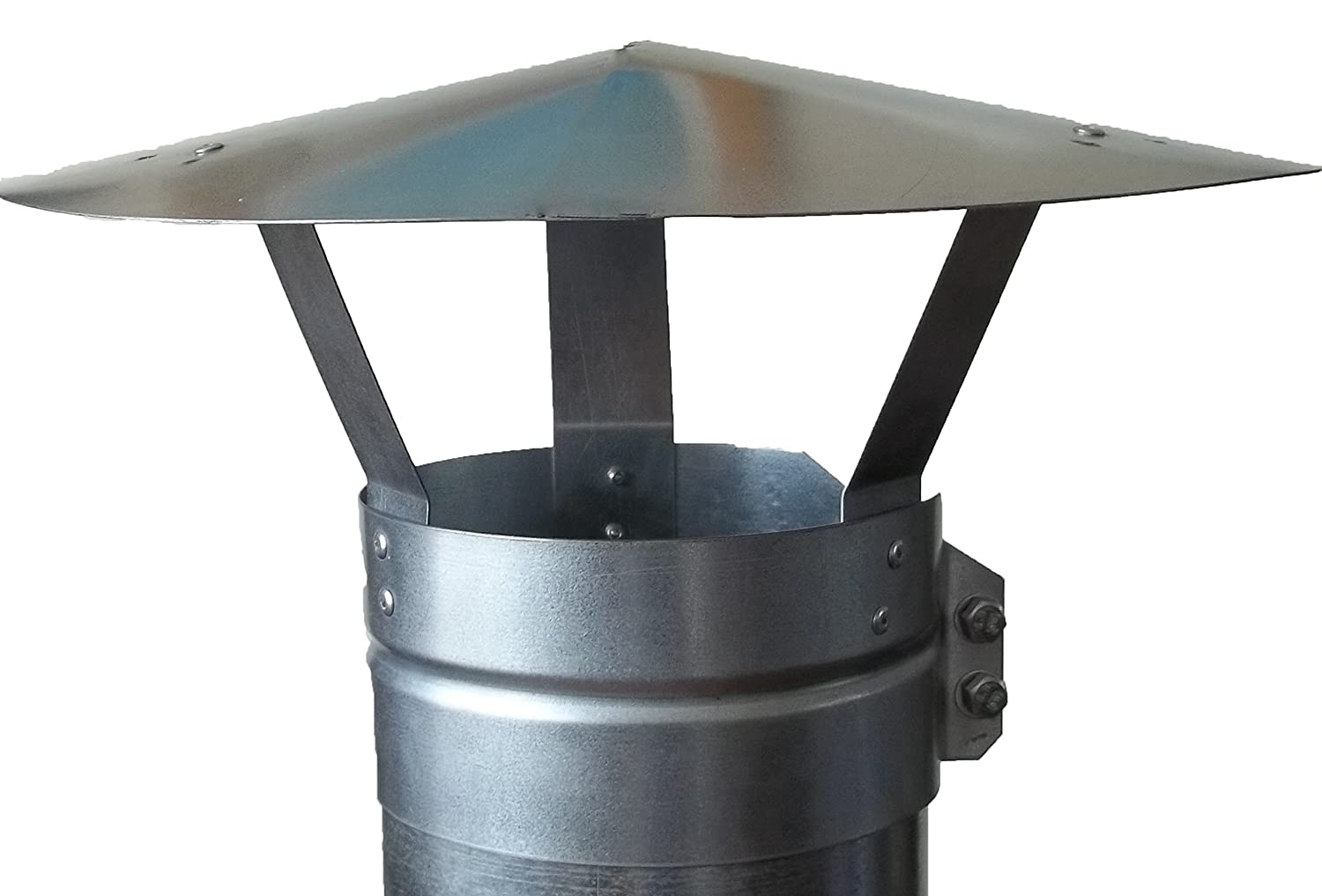 Chimney Cap,Bolt ON Chimney Cowl Galvanised to FIT 4