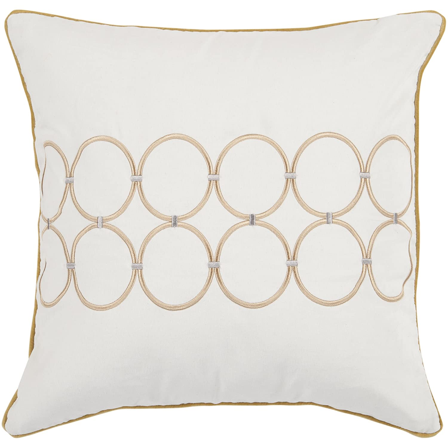 Surya Rug BCO510-1818P Square Ivory Poly Fiber Pillow 18 x 18 in.   B007TWN81K