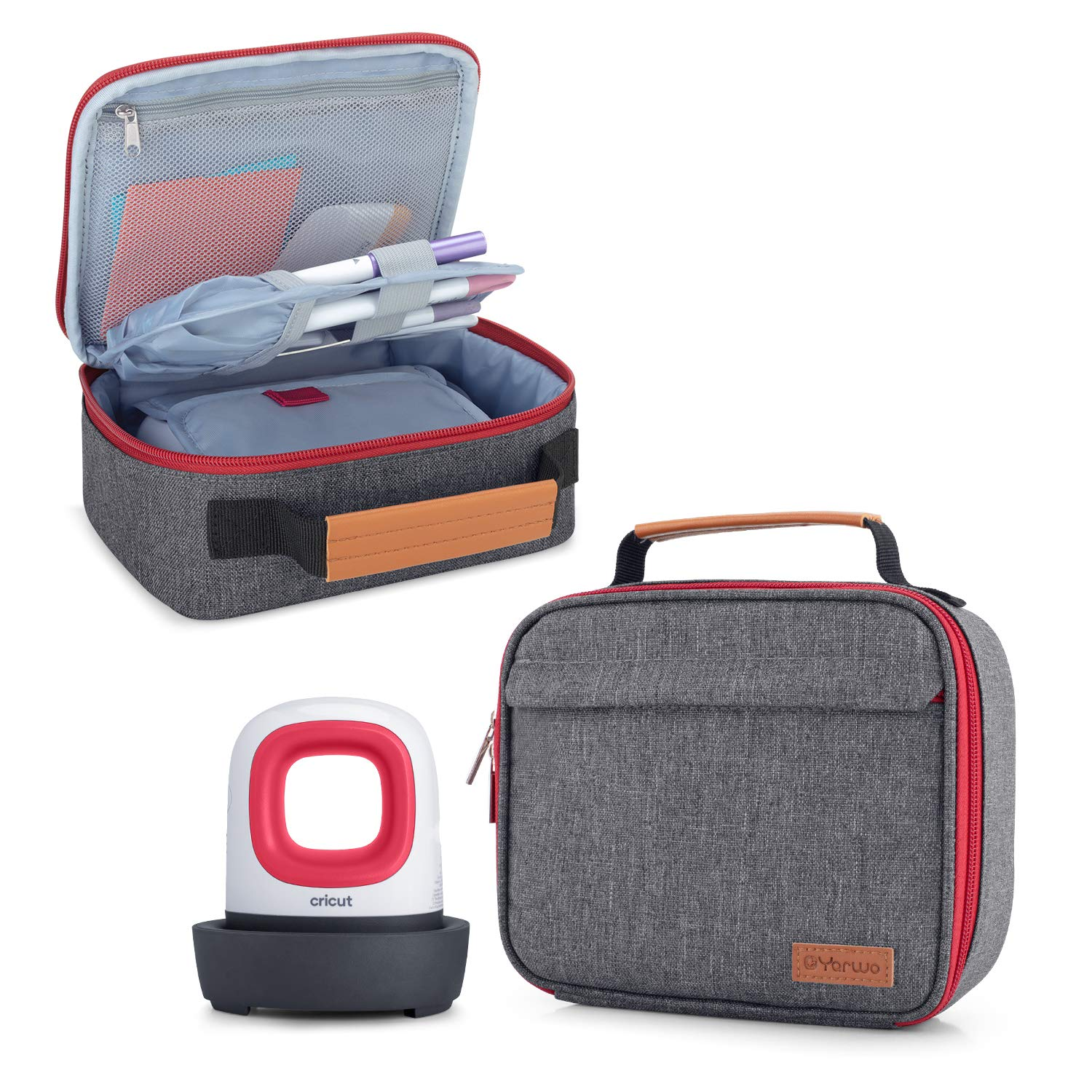 Portable Tote Bag Compatible with Heat Press Machine and Tools Yarwo Carrying Case for Cricut Easy Press Mini Pink