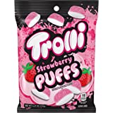 Trolli Strawberry Puffs Gummy Candy, 4.25 Ounce Peg Bag (Pack of 12)