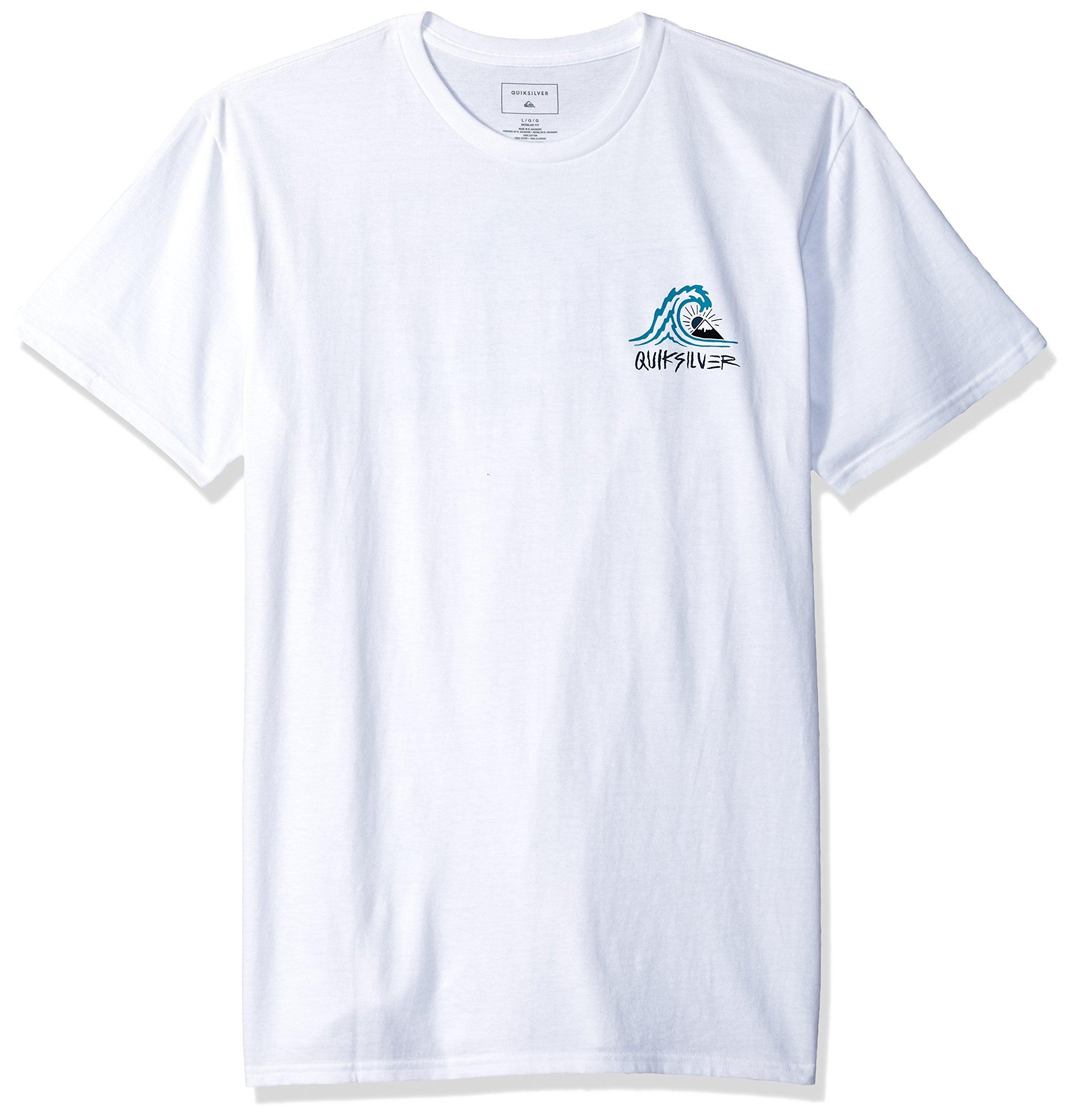 Quiksilver Men's Quik in The Box Tee Shirt, White, L
