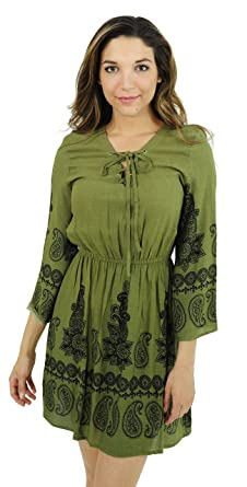 83b1f6cafde Just Love 401558-OB-S Rayon Short Dress Summer Dresses for Women Olive