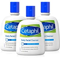 Face Wash by Cetaphil, Daily Facial Cleanser for Combination to Oily Sensitive Skin, 4 oz Pack of 3, Gentle Foaming Deep…