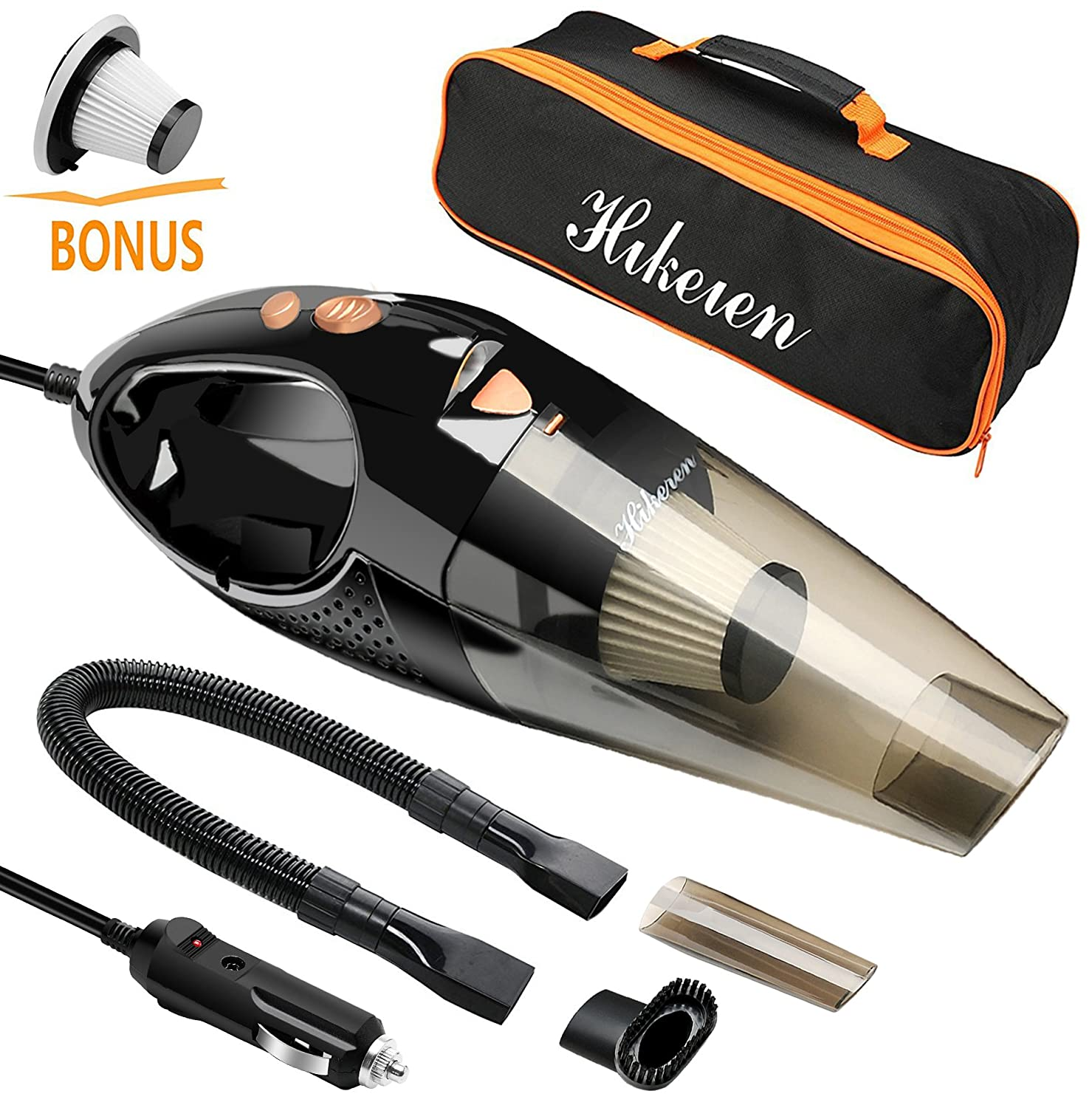 Car Vacuum Cleaner, HikerenWet & Dry Handheld Auto Vacuum Cleaner