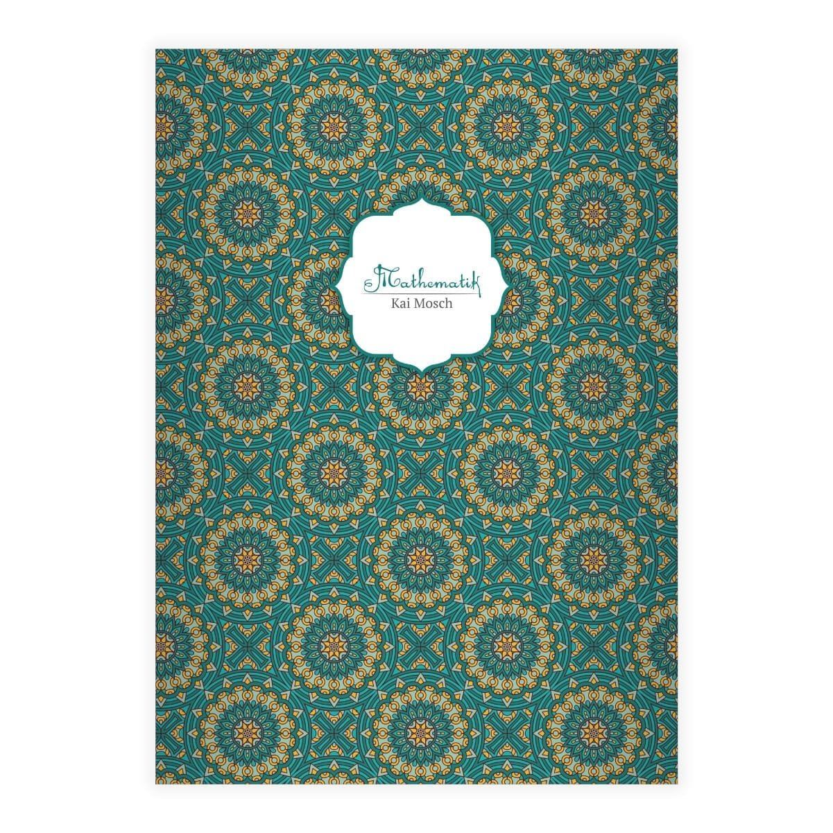 blanko Heft Kartenkaufrausch 1 Elegantes Boho Stil DIN A4 Schulheft Schreibhefte mit ethno Stern Muster in beige Lineatur 20