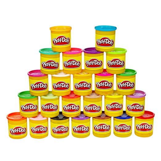 Play-Doh Modeling Compound 24-Pack Case of Colors (Amazon Exclusive), Non-Toxic, Assorted Colors, 3-Ounce Cans
