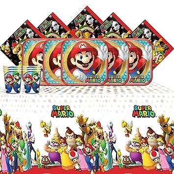 amscan Súper Fiesta de cumpleaños de Super Mario Bros ...
