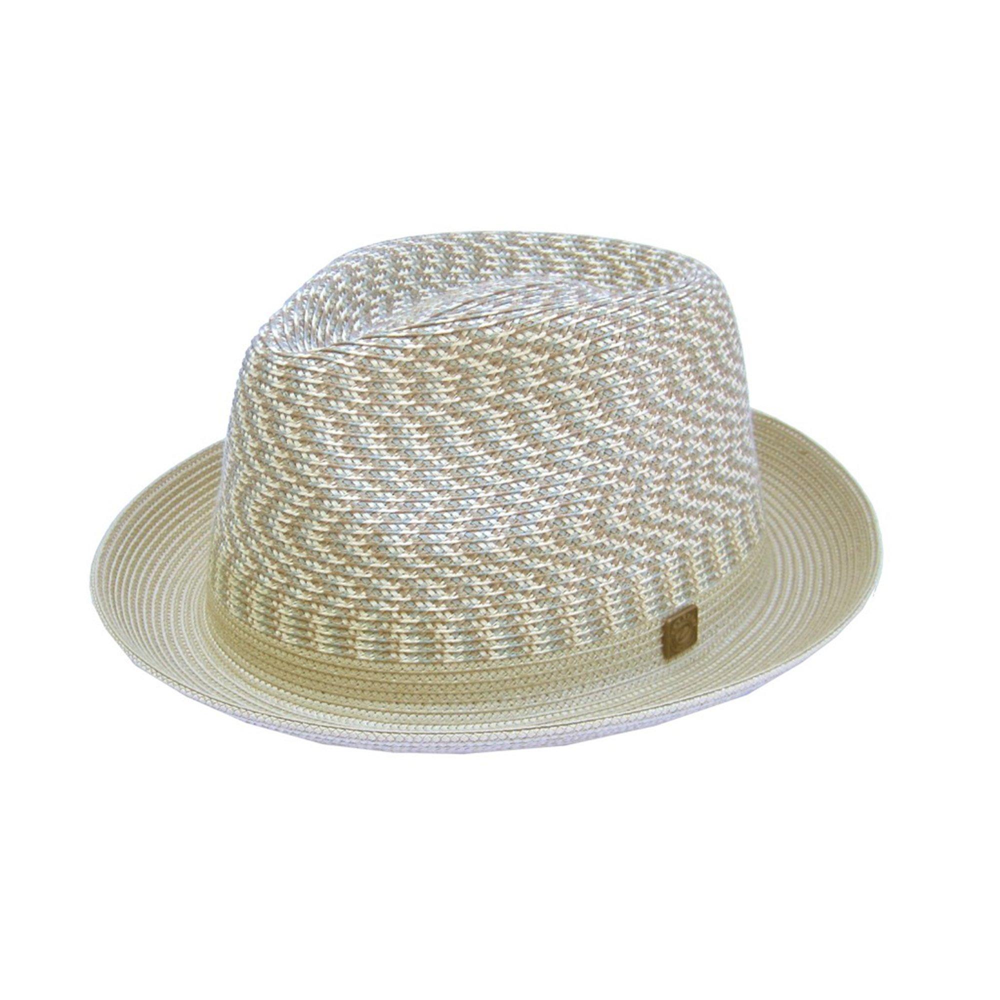 Dasmarca Vienna Beige Multicolor Summer Trilby Hat - M