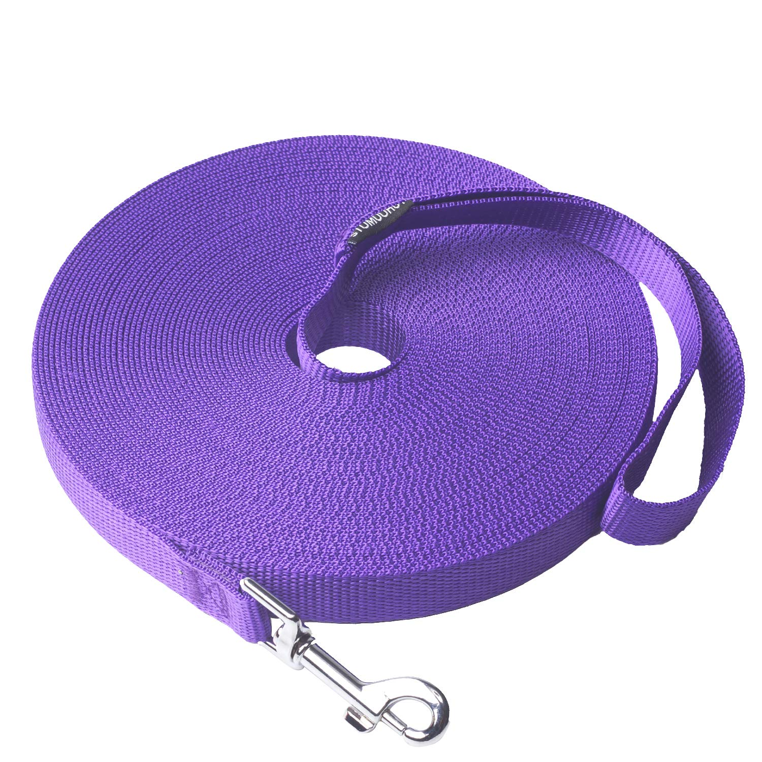 Siumouhoi Dog/Puppy Obedience Recall Training Agility Lead- 15ft 20ft 30ft 40ft 50ft Long Leash -for Training Leash, Play, Safety, Camping,or Backyard (50Feet, Purple) by Siumouhoi