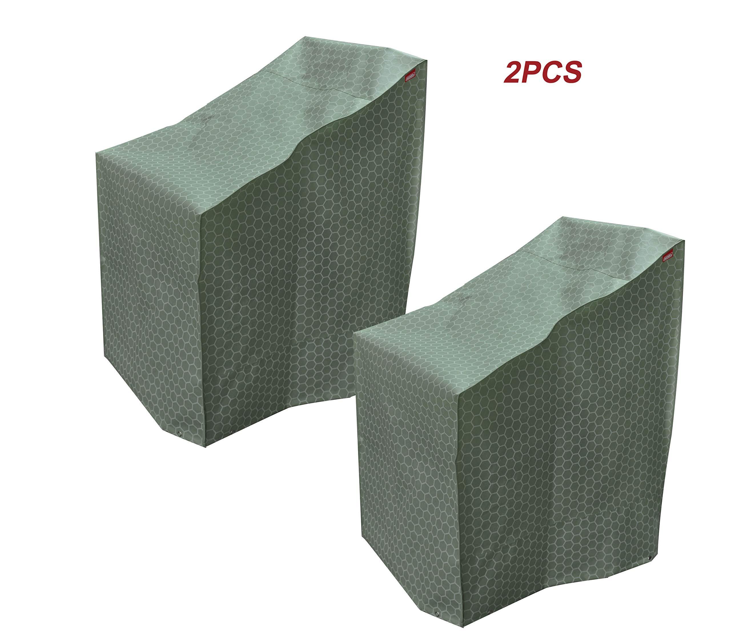 acoveritt Honey Comb Series -2PCS Waterproof Heavy Duty Stackable-Chair Patio Cover (26'' WX34 DX45 H)