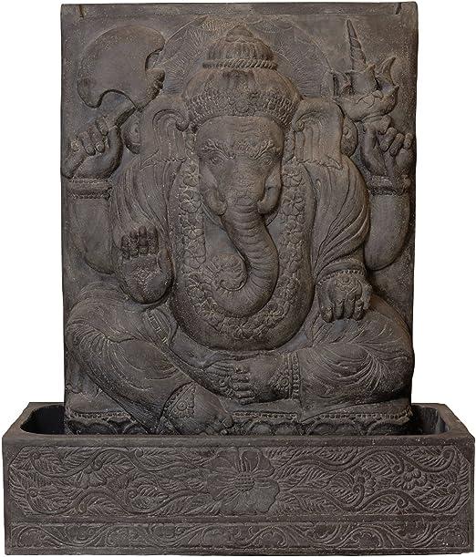 Korb.outlet Ganesha - Fuente para jardín, diseño de elefante: Amazon.es: Hogar
