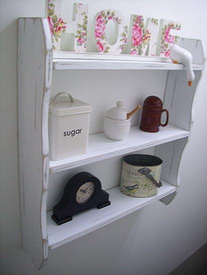 Large 70cm White Pine Shabby Chic Shelves Kitchen Shelves Shelf Kitchen Shelves Bedroom Shelves Bathroom Shelves Kitchen Storage
