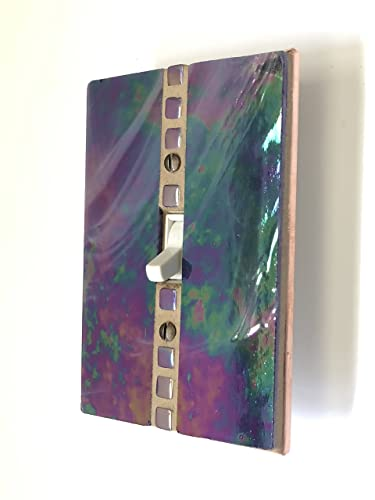 Amazoncom Purple Switch Plate Iridescent Stained Glass Light