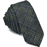 VOBOOM Mens Necktie Skinny Tie Tweed Pattern Woolen Neck Tie