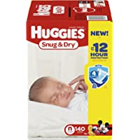 2 Huggies Snug & Dry Diapers, Size 1, 296 Count + $10 Gift Card
