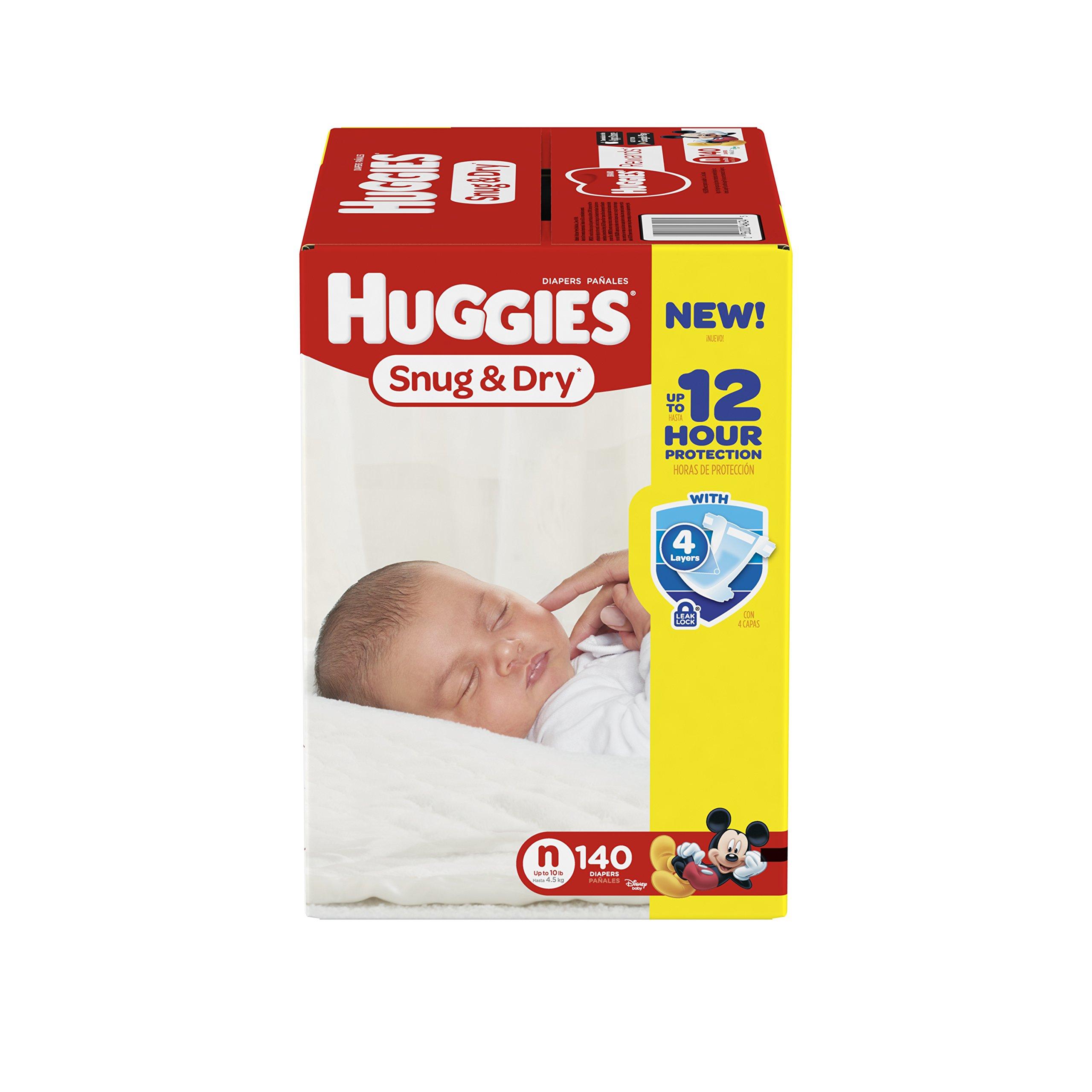 Huggies Snug and Dry Diapers Newborn 140 Count Free ...