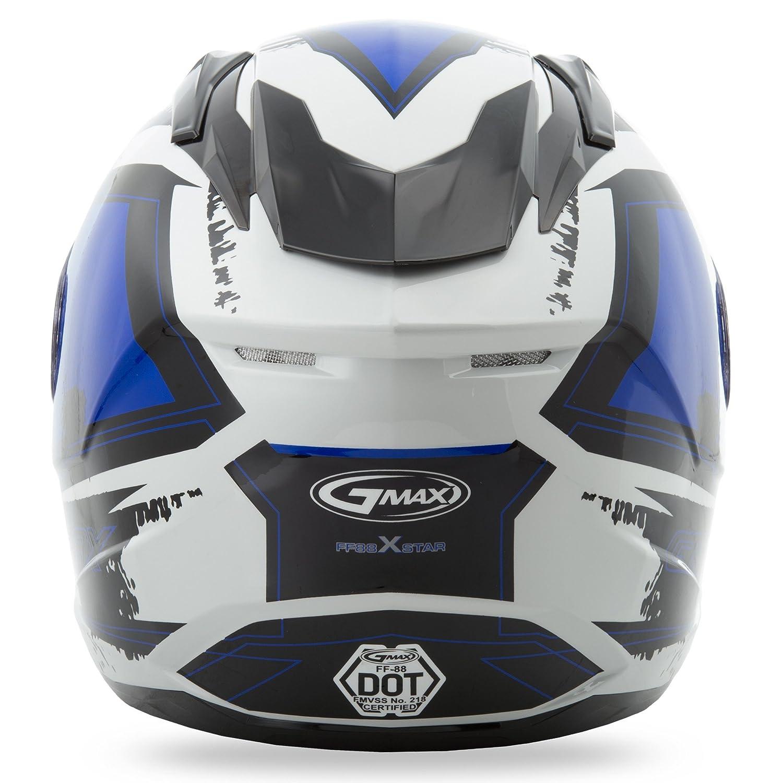 GMAX FF88 X-Star Mens Full Face Street Motorcycle Helmet White//Blue X-Large