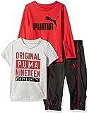 Puma 男宝宝针织裤套装 红色丝带 12M