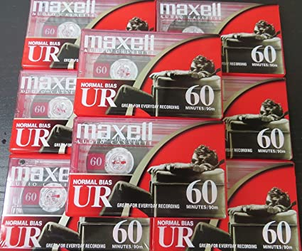 Maxwell Audio Cassette Recording Tapes UR 60 Normal Bias 6 Pack