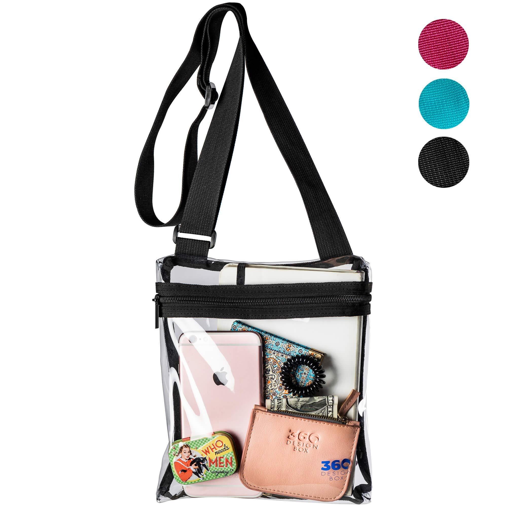 GreenPine Clear Messenger Bag for Work /& Business Travel for Men /& Women,NFL Stadium Approved Transparent Cross-Body Shoulder Bag for Security /& Sporting Event C-Large